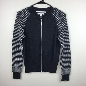 Max Studio Extra Fine Merino Wool Zip Cardigan M